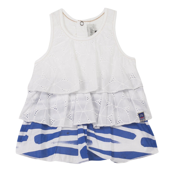 Jean Bourget Kids tops Tank Top With Broderie Anglaise Flounces - Ever Simplicity