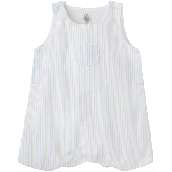 Petit Bateau Baby bodysuit Striped Overall With Front Pocket - Ever Simplicity
