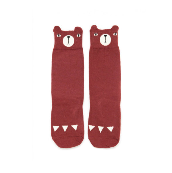 mini dressing Kids accessories Bear Knee Socks-Red - Ever Simplicity