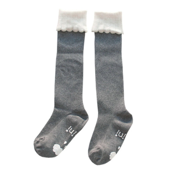 mini dressing Kids accessories Cupcake Knee Socks-Grey - Ever Simplicity