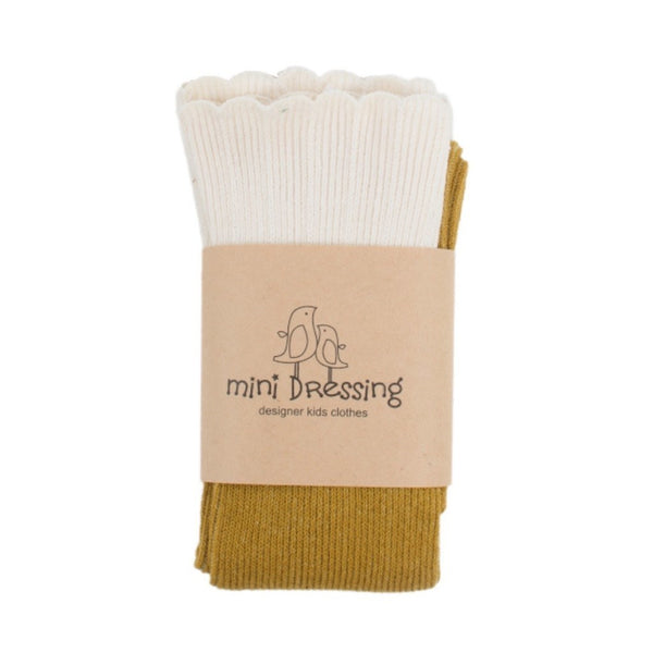 mini dressing Kids accessories Cupcake Knee Socks-Mustard - Ever Simplicity