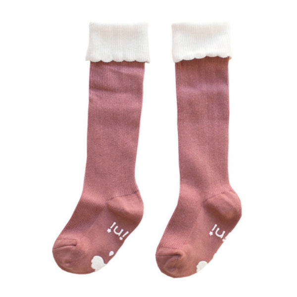 mini dressing Kids accessories Cupcake Knee Socks-Pink - Ever Simplicity