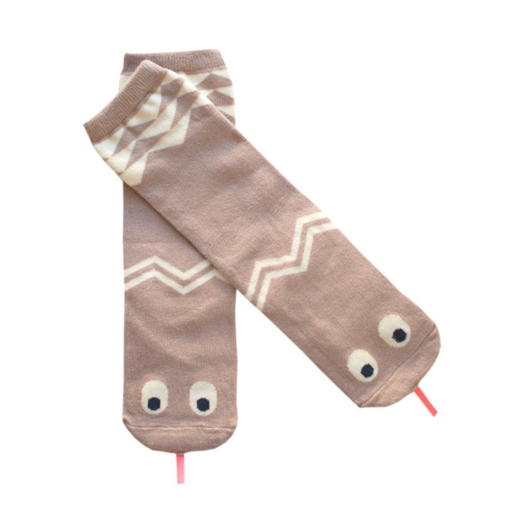 mini dressing Kids accessories Snake Knee Socks-Beige - Ever Simplicity