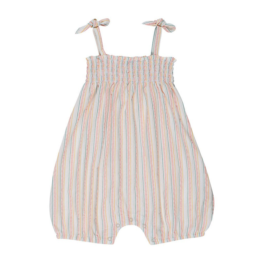 Serendipity Organics Baby bodysuits Pastel Stripe Mini Smock Suit - Ever Simplicity