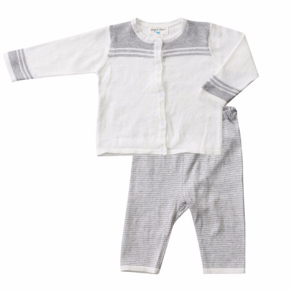 Angel Dear Kids sets Ivory Mini Sailor Knit Cardigan Set - Ever Simplicity