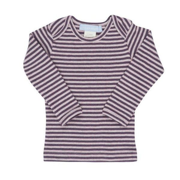 Serendipity Organics Kids top Organic Tee Stripe-Rose/Plum - Ever Simplicity