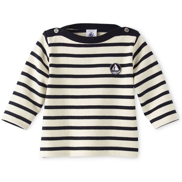 Petit Bateau Kids tops Long Sleeve Striped Top - Ever Simplicity