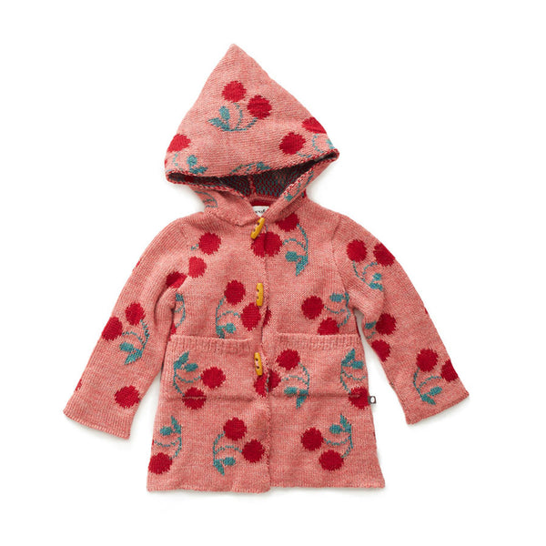 Oeuf Kids cardigans Cherry Toggle Sweater-Rose - Ever Simplicity