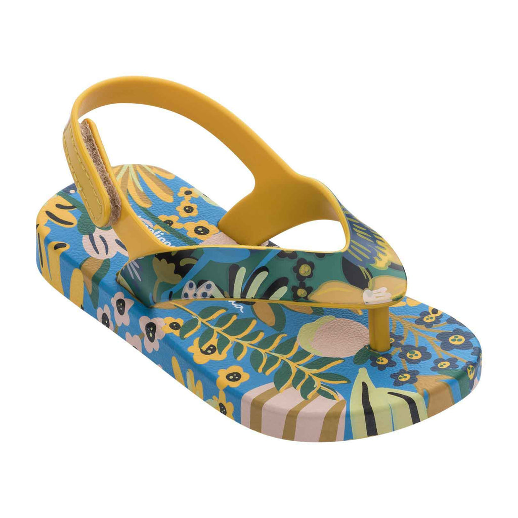 Mini Melissa Kids accessories Ipanema Flip Flop-Yellow/Blue - Ever Simplicity