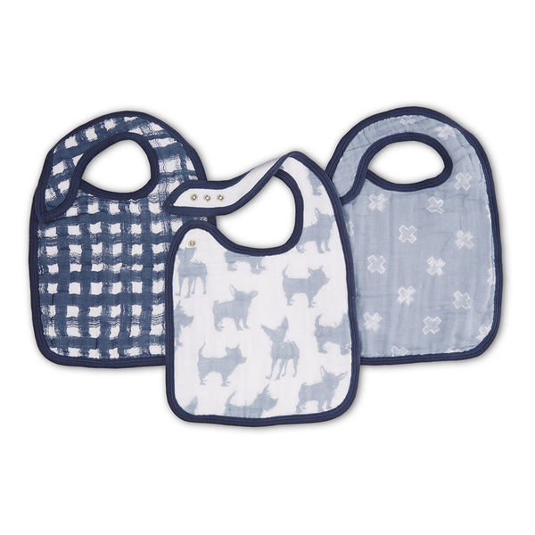 aden + anais Kids accessories Waverly Classic Snap Bib 3 Pack - Ever Simplicity
