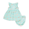 Angel Dear Kids sets Flamingo Muslin Ruffle Sundress - Ever Simplicity
