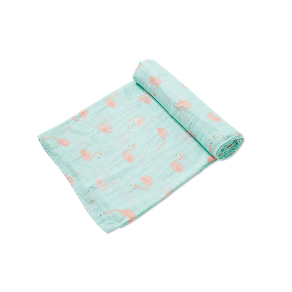 Angel Dear Kids accessories Flamingo Muslin Swaddle - Ever Simplicity