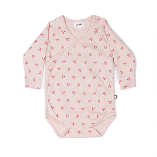 Oeuf Kids one-pieces Cherry Kimono Onesie - Ever Simplicity