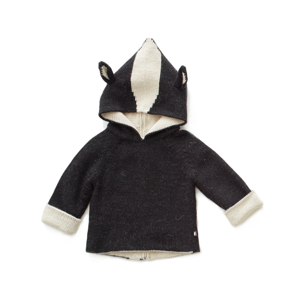Oeuf Kids cardigans Animal Hoodie-Skunk - Ever Simplicity
