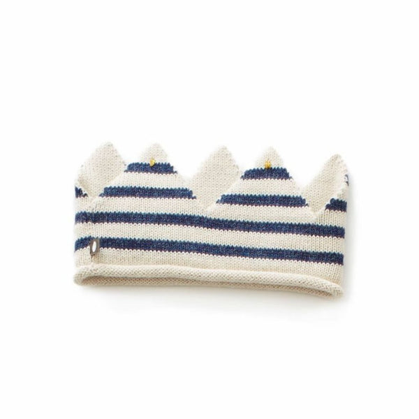 Oeuf Kids accessories Crown-Whit/Indigo Stripes - Ever Simplicity