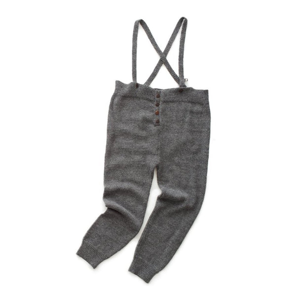 Oeuf Kids Bottoms Suspender Pants-Dark Grey - Ever Simplicity