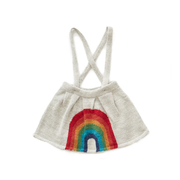 Oeuf Kids bottoms Rainbow Skirt-Light Grey/Multi - Ever Simplicity