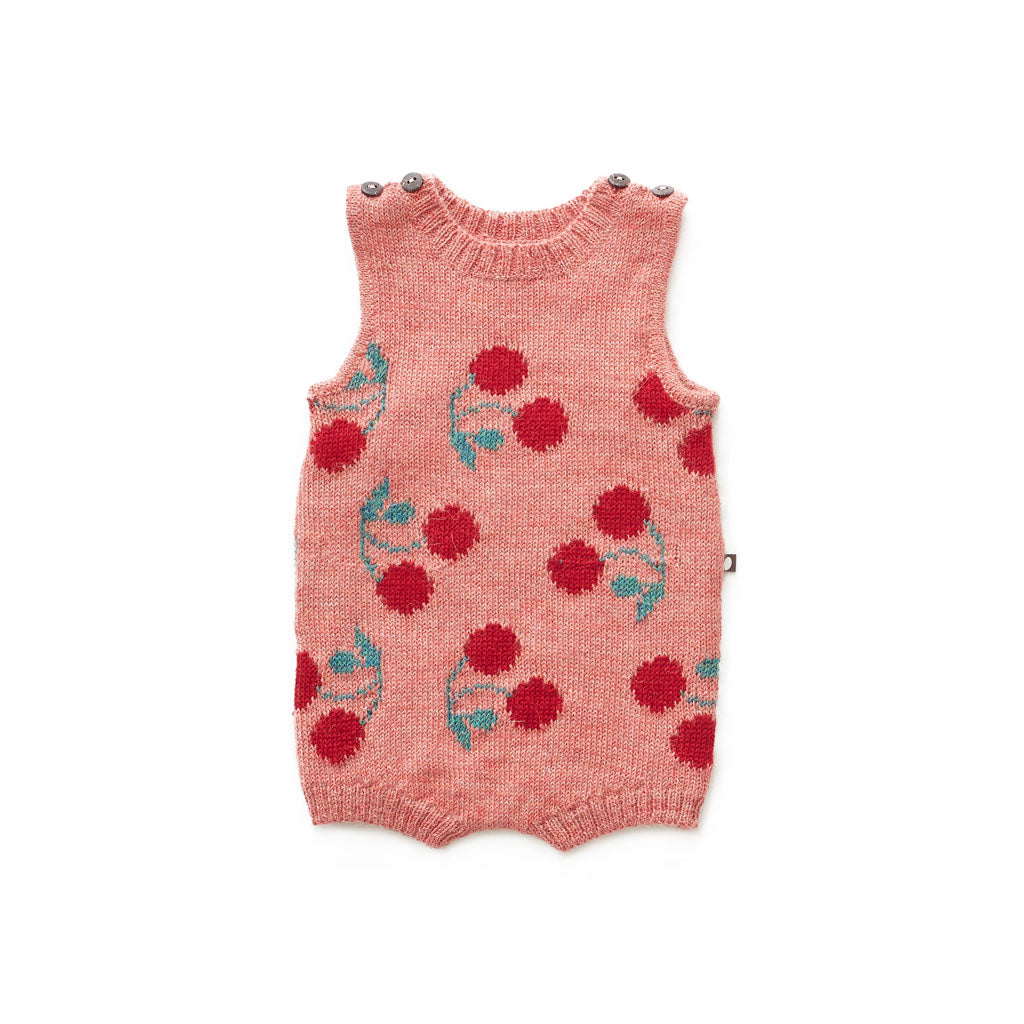 d50ea3819a056 Shop Oeuf Handmade Baby Alpaca Tank Romper Rose/Cherry for Infants