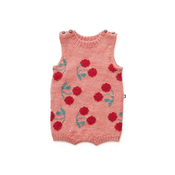 Tank Romper-Rose/Cherry