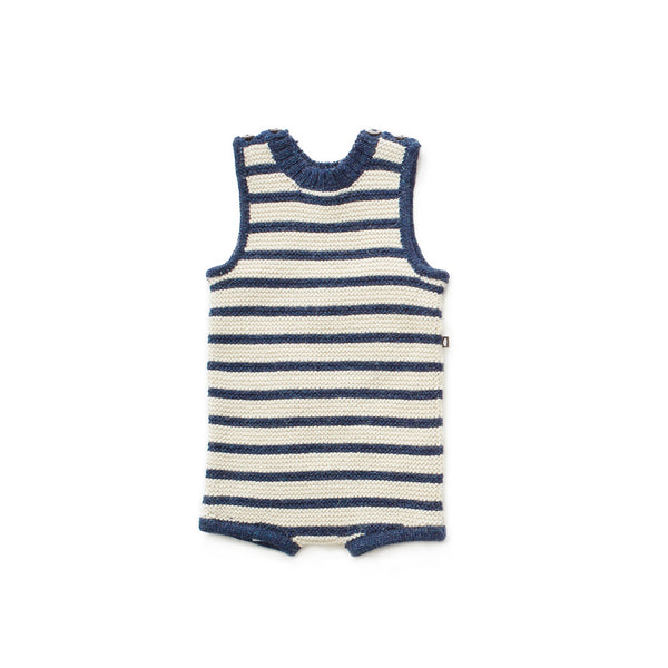 Tank Romper-Indigo/White Stripes