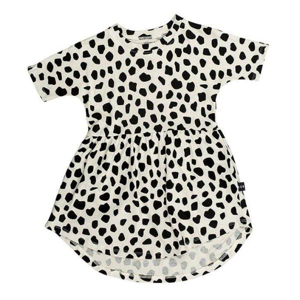 Huxbaby Kids dresses Leopard Swirl Dress - Ever Simplicity