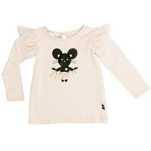 Huxbaby Kids tops Mouse Frill Long Sleeve Top - Ever Simplicity
