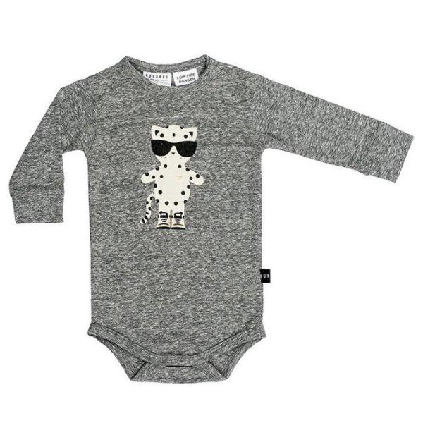Huxbaby Kids one-pieces Leopard Long Sleeve Onesie - Ever Simplicity
