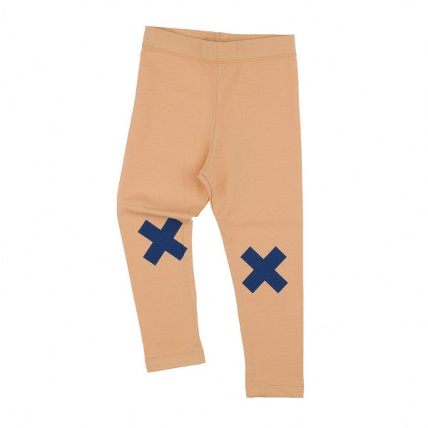 tinycottons Kids bottoms logo pant-nude/blue - Ever Simplicity