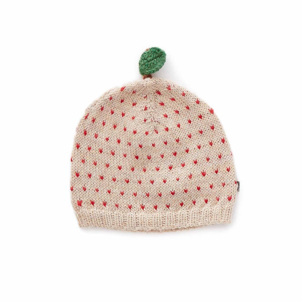 Oeuf Kids accessories Apple Hat-Beige/Red Dots - Ever Simplicity