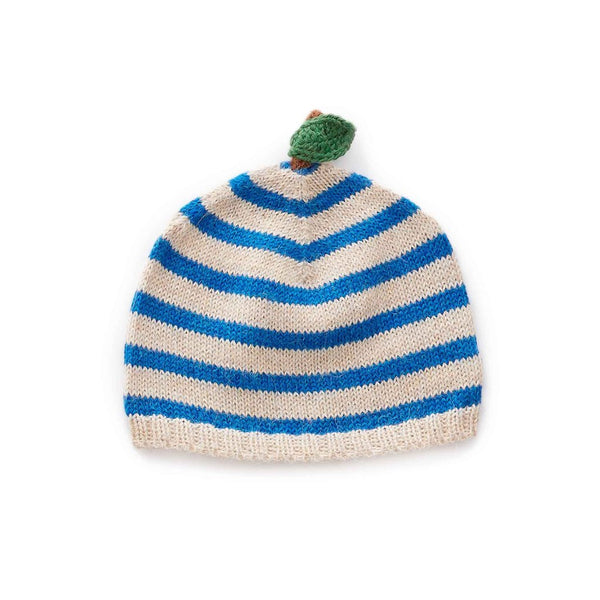 Oeuf Kids accessories Apple Hat-Beige/Ocean Stripes - Ever Simplicity