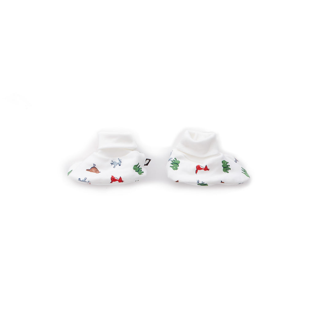 Oeuf Kids accessories Booties-White/Animals - Ever Simplicity
