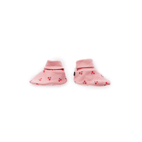 Oeuf Kids accessories Booties-Dark Pink/Cherries - Ever Simplicity