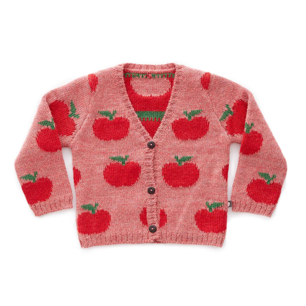 Oeuf Kids cardigans Apple Cardi-Rose/Red - Ever Simplicity