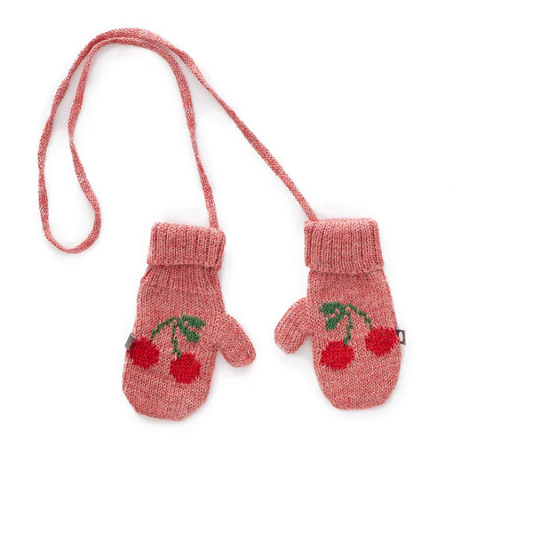 Oeuf Kids accessories Cherry Mittens-Rose/Red - Ever Simplicity
