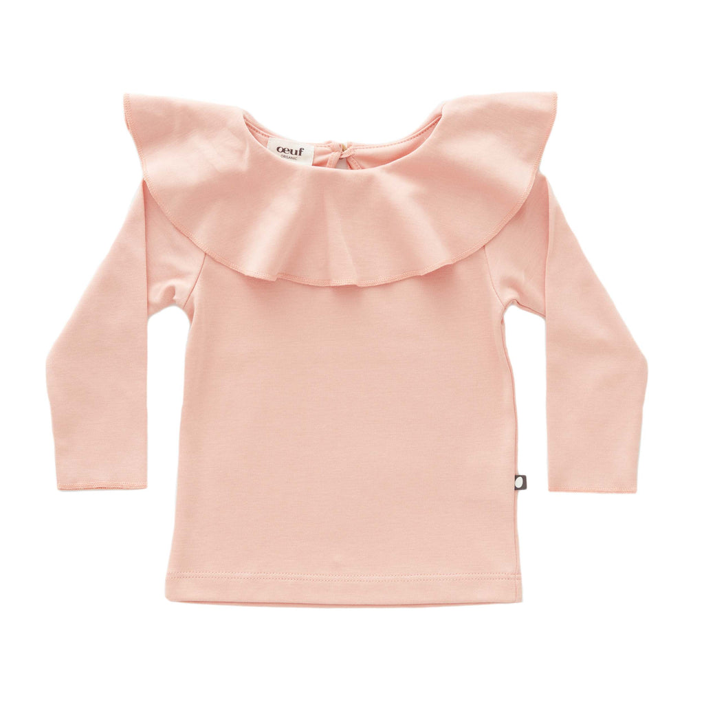 Oeuf Kids tops Ruffle Collar Tee-Pink - Ever Simplicity