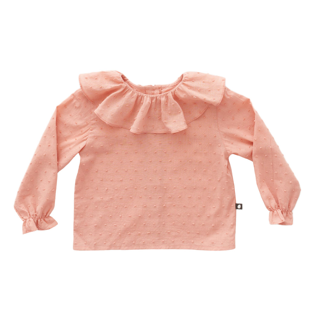 Oeuf Kids tops Ruffle Blouse-Pink - Ever Simplicity