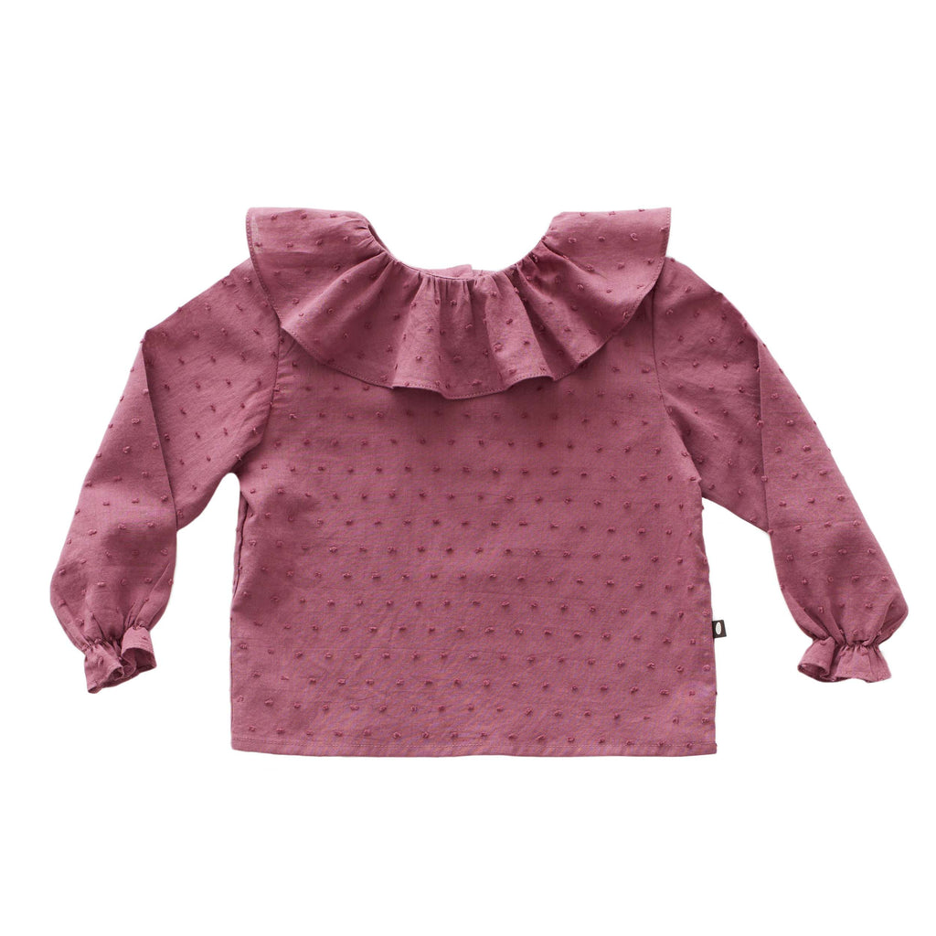 Oeuf Kids tops Ruffle Blouse-Mauve - Ever Simplicity
