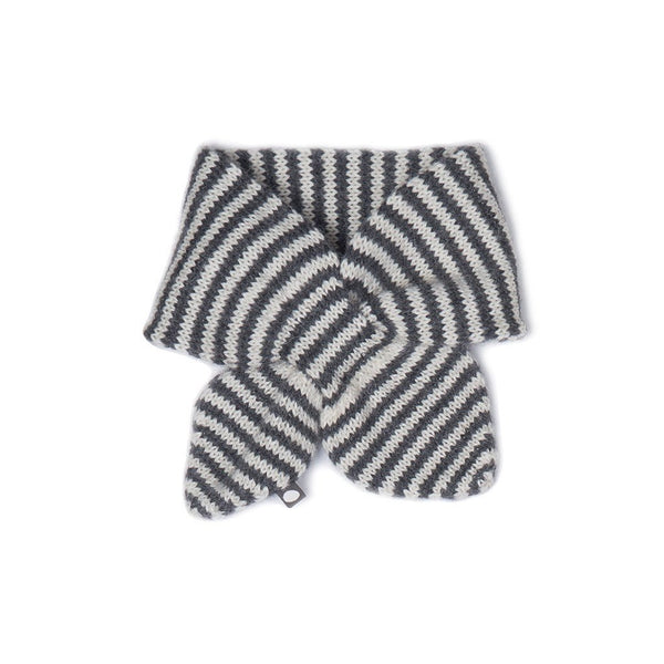 Oeuf Kids accessories Neckie-White/Indigo Stripes - Ever Simplicity