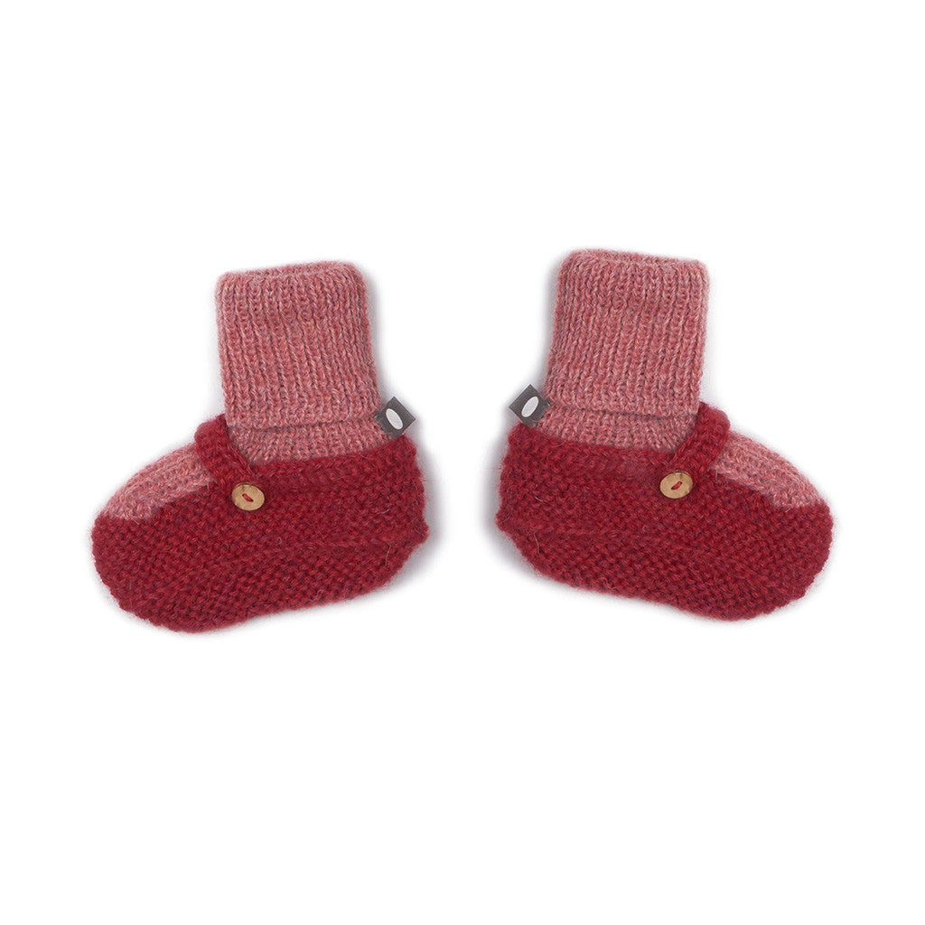 Oeuf Kids accessories Sock Booties-Rose/Red - Ever Simplicity
