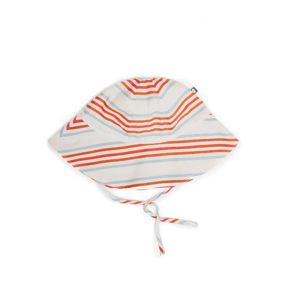 Baby Hat-White/Multi Stripes