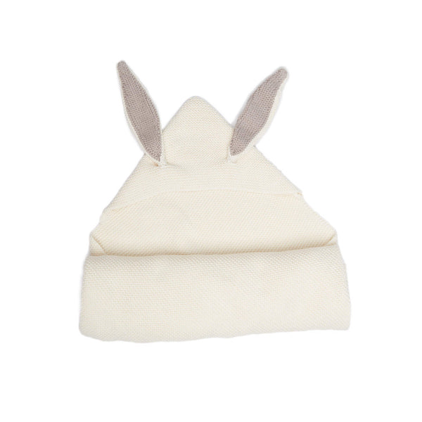BUNNY EARS BLANKET-WHITE