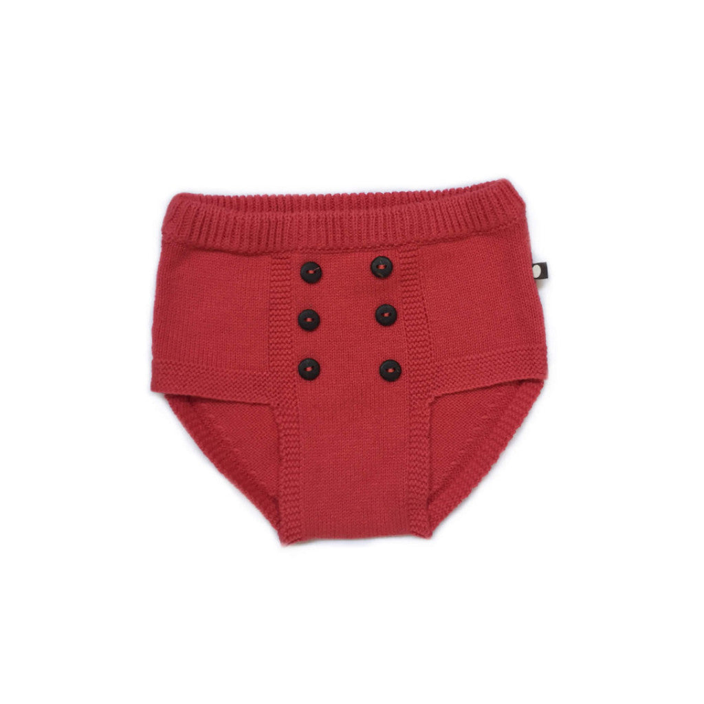 Oeuf Kids bottoms RETRO DIAPER COVER-RED - Ever Simplicity