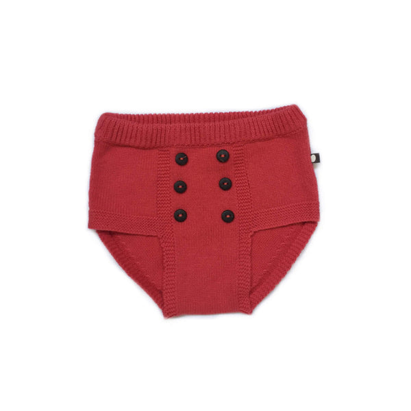RETRO DIAPER COVER-RED
