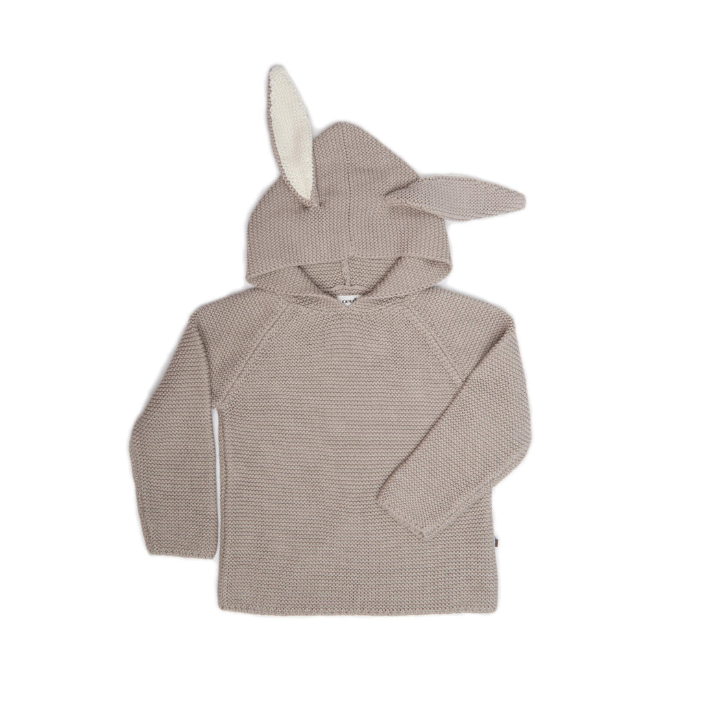 Oeuf Kids cardigans BUNNY HOODIE-LIGHT Grey - Ever Simplicity