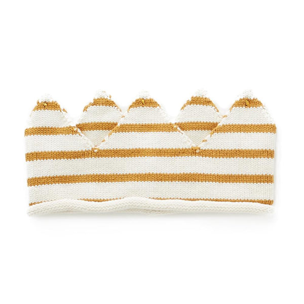 Oeuf Kids accessories Crown-White/Ochre Stripe - Ever Simplicity