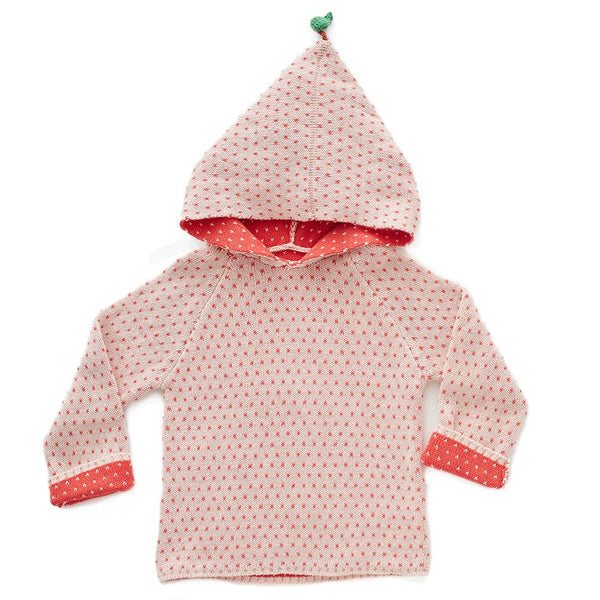 PEACH HOODIE-ROSE/RED DOTS