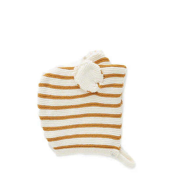 Oeuf Kids accessories KOALA HAT-OCHRE/WHITE - Ever Simplicity