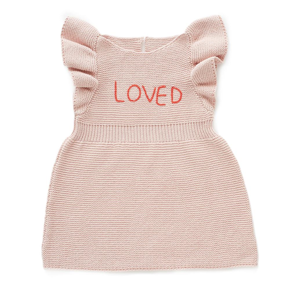 Oeuf Kids dresses Loved Dress-Light Pink - Ever Simplicity