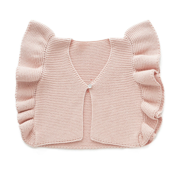 Oeuf Kids cardigans Loved Vest-Light Pink - Ever Simplicity