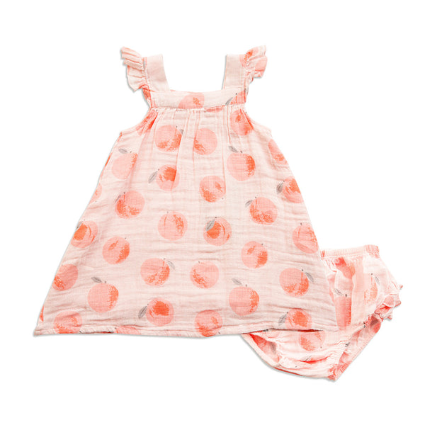 Peach Muslin Sundress